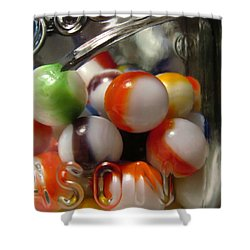 Shower Curtain featuring the photograph Marbles And Mason by Mary Bedy