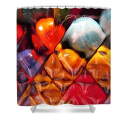 Shower Curtain featuring the photograph Marbles In Glass by Mary Bedy
