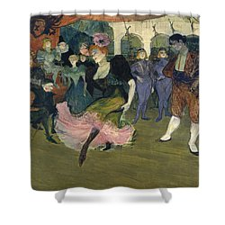 Marcelle Lender Dancing The Bolero In Chilperic Shower Curtain by Henri de Toulouse-Lautrec