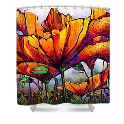March Of The Poppies Shower Curtain