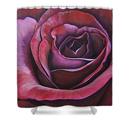 Shower Curtain featuring the painting March Rose by Thu Nguyen