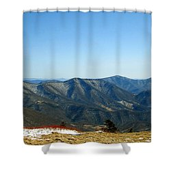 March Snow In The Mountains Shower Curtain