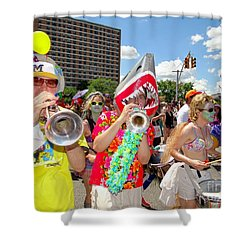 Shower Curtain featuring the photograph Marching Band by Ed Weidman