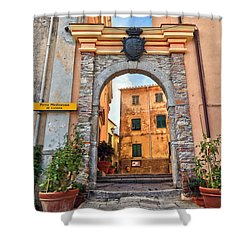 Marciana - Ancient Gate Shower Curtain by Antonio Scarpi