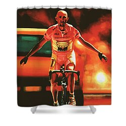 Marco Pantani Shower Curtain by Paul Meijering