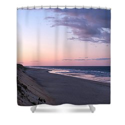 Marconi Beach At Dusk Shower Curtain