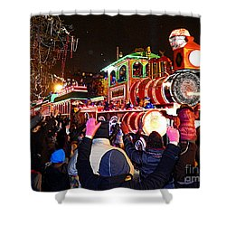 New Orleans Mardi Gras 2014 Orpheus Super Float Smokey Mary Shower Curtain