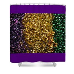 Mardi Gras Beads - New Orleans La Shower Curtain