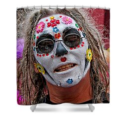 Mardi Gras Happy Face Shower Curtain