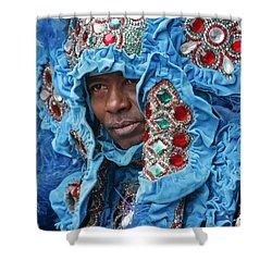 Mardi Gras Indian Shower Curtain