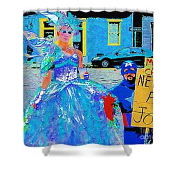 Mardi Gras New Orleans Shower Curtain