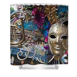 Mardi Gras Mask Shower Curtain by Heidi Smith