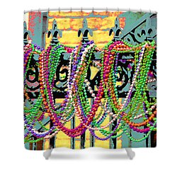 Mardi Gras On Fleur-de-lis Shower Curtain