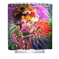 Mardi Gras Queen Shower Curtain
