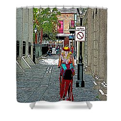 Mardi Gras In French Quarter Shower Curtain
