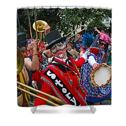Mardi Gras Storyville Marching Group Shower Curtain