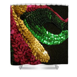 Shower Curtain featuring the photograph Mardi Gras Time by Beth Vincent