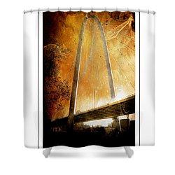 Margaret Hunt Hill Bridge Dallas Texas Shower Curtain