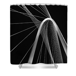 Margaret Hunt Hill Bridge Dallas Texas Shower Curtain by Robert ONeil
