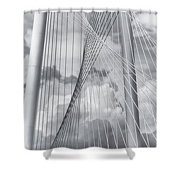 Margaret Hunt Hill Bridge Shower Curtain by Joan Carroll