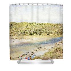 Margaret Rivermouth In Western Australia Shower Curtain by Elaine Teague