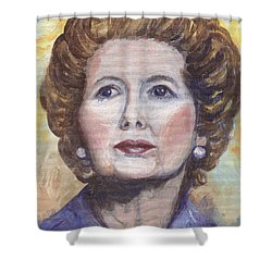 Margaret Thatcher Two Shower Curtain by Linda Mears
