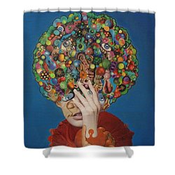 Shower Curtain featuring the painting Margarita Martini by Douglas Fromm