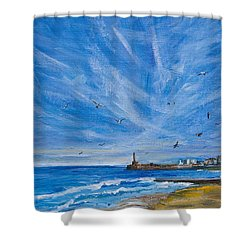 Margate Skies Shower Curtain