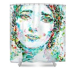 Maria Callas - Watercolor Portrait.1 Shower Curtain