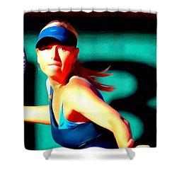 Maria Sharapova Tennis Shower Curtain by Lanjee Chee