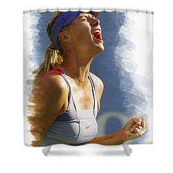 Maria Sharapova - Us Open 2011 Shower Curtain by Don Kuing