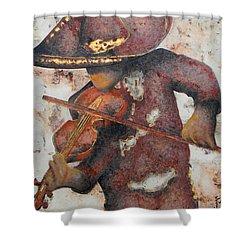 Mariachi I Shower Curtain by J- J- Espinoza