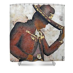Mariachi  II Shower Curtain by J- J- Espinoza