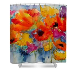 Shower Curtain featuring the painting Marianne's Garden by Anne Duke