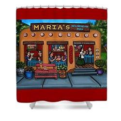 Maria's New Mexican Restaurant Shower Curtain by Victoria De Almeida
