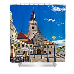 Marija Bistrica Marianic Sanctuary In Croatia Shower Curtain by Brch Photography