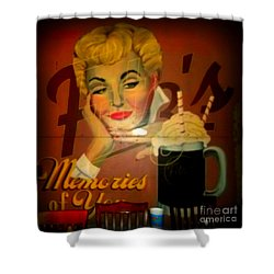 Marilyn And Fitz's Shower Curtain by Kelly Awad