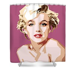 Marilyn Shower Curtain by Douglas Simonson