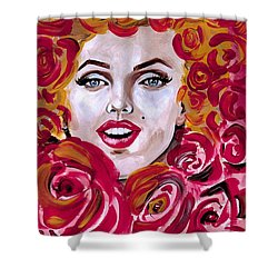 Marilyn Mon-rose Timeless Beauty Shower Curtain