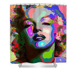 Marilyn Monroe - Abstract 1 Shower Curtain