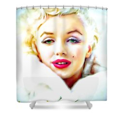 Marilyn Monroe Shower Curtain by Barbara Chichester