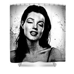 Marilyn Monroe--brunette Shower Curtain