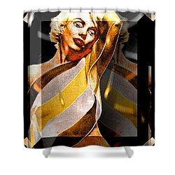 Shower Curtain featuring the digital art Marilyn Monroe by Daniel Janda