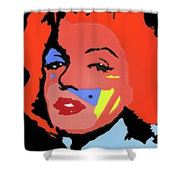 Marilyn Monroe In Color Shower Curtain