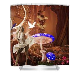 Marilyn Monroe In Fantasy Land Shower Curtain by EricaMaxine  Price