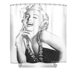 Marilyn Monroe - In Memory Shower Curtain by Angela A Stanton