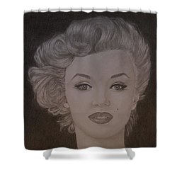 Marilyn Monroe Shower Curtain by Lorelle Gromus