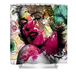 Marilyn Monroe Shower Curtain by Mark Ashkenazi