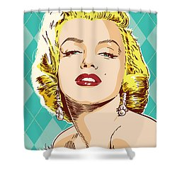 Marilyn Monroe Pop Art Shower Curtain by Jim Zahniser