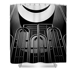 Shower Curtain featuring the photograph Marin County Government Complex Gate by Jeff Brunton